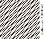 Vector Seamless Black and White Diagonal Wavy Lines Pattern. Abstract Geometric Background Design.   Shutterstock vector #520830523