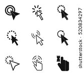 pointer of computer icons set.... | Shutterstock .eps vector #520834297