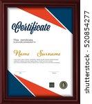 certificate template letter... | Shutterstock .eps vector #520854277