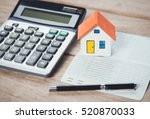 house model and bank account ... | Shutterstock . vector #520870033