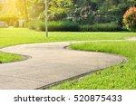 walkway pathway s curve in... | Shutterstock . vector #520875433