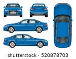 Blue Car Vector Template On...