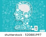 human head business modern... | Shutterstock .eps vector #520881997