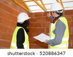 civil engineers working in a... | Shutterstock . vector #520886347
