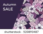 autumn floral design with... | Shutterstock .eps vector #520893487