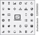 big data  database icons... | Shutterstock .eps vector #520900003