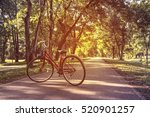 red bikes for rent to tourists... | Shutterstock . vector #520901257