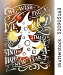 typography we wish you a merry... | Shutterstock .eps vector #520905163
