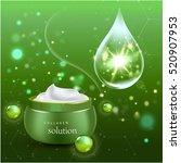 realistic collagen cream bottle ...