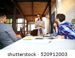 team members listening... | Shutterstock . vector #520912003
