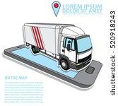 Vector Delivery Cargo Truck In...