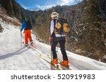 woman practicing alpine skiing...   Shutterstock . vector #520919983