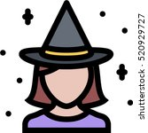 witch icon | Shutterstock .eps vector #520929727