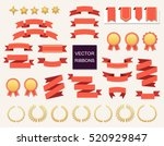 vector collection of decorative ... | Shutterstock .eps vector #520929847