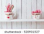 christmas kitchen shelf   Shutterstock . vector #520931527