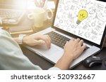 businessman using computer... | Shutterstock . vector #520932667
