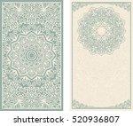 set of wedding invitations or...   Shutterstock .eps vector #520936807
