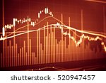 stock's data analyzing in stock ... | Shutterstock . vector #520947457