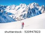 Skier In Mountains. Winter...