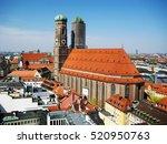 view of the munich frauenkirche ... | Shutterstock . vector #520950763