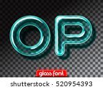 super realistic glass alphabet... | Shutterstock .eps vector #520954393