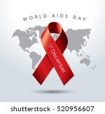 aids awareness red ribbon.... | Shutterstock .eps vector #520956607