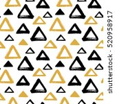 brush drawn triangles  pyramid... | Shutterstock .eps vector #520958917