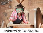 woman making carpenter... | Shutterstock . vector #520964203