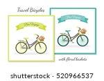 beautiful flat rustic bicycle... | Shutterstock .eps vector #520966537