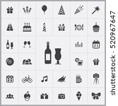 wine icon.  birthday icons... | Shutterstock .eps vector #520967647