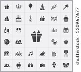 gift icon. birthday icons... | Shutterstock .eps vector #520967677