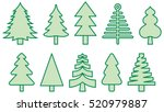 set of christmas trees green... | Shutterstock .eps vector #520979887