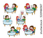 rules of conduct at the table | Shutterstock .eps vector #520988587