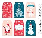 christmas labels   Shutterstock .eps vector #520999573