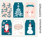 christmas labels | Shutterstock .eps vector #520999603