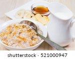 breakfast  with bircher muesli  ... | Shutterstock . vector #521000947