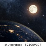 earth  moon and star. elements... | Shutterstock . vector #521009377