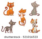 vector set of cartoon images of ... | Shutterstock .eps vector #521016523