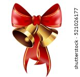 jingle bells with red bow .... | Shutterstock .eps vector #521026177