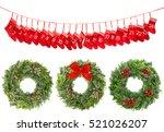 christmas decoration wreath...   Shutterstock . vector #521026207