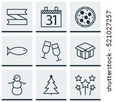 set of 9 happy new year icons....