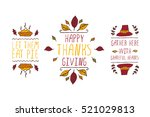 set of thanksgiving elements.... | Shutterstock .eps vector #521029813