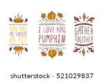 set of thanksgiving elements.... | Shutterstock .eps vector #521029837