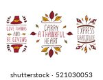 set of thanksgiving elements.... | Shutterstock .eps vector #521030053