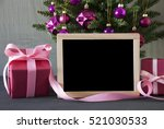 tree with gifts  copy space | Shutterstock . vector #521030533