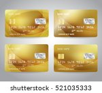 realistic detailed gold credit... | Shutterstock .eps vector #521035333