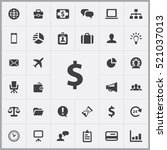 dollar icon. business icons... | Shutterstock .eps vector #521037013