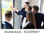 young creative startup business ... | Shutterstock . vector #521039047