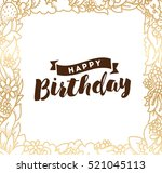 happy birthday. typography for... | Shutterstock .eps vector #521045113