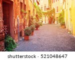 View Of Old Rome Town Italian...